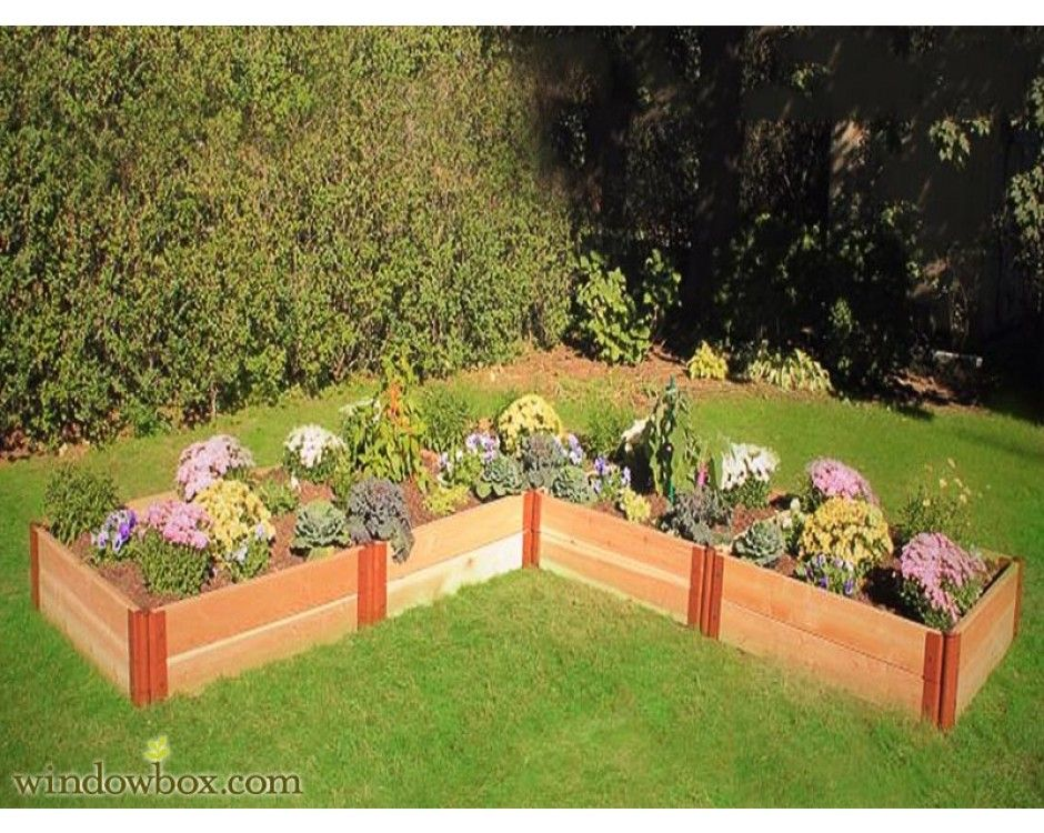 corner garden box Multi Tiered Garden Boxes Pinterest
