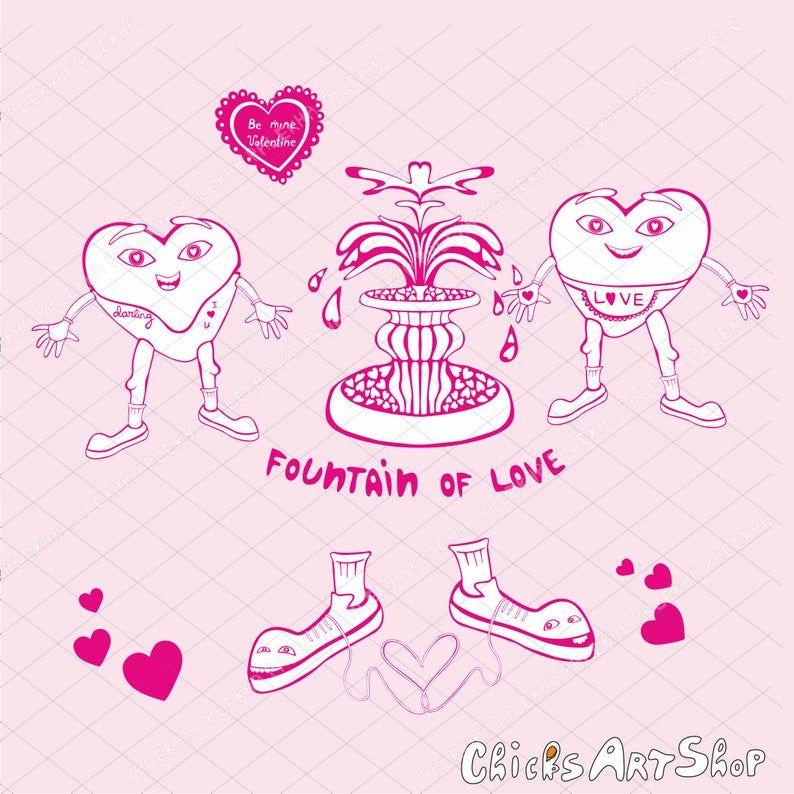 Download SET Valentines Day Stickers Digital Instant Download ...