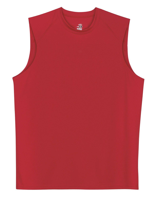 ad8ad8698d0b4 Badger Men s B Dry Moisture Wicking Self Fabric Collar Sleeveless T-Shirt.  4130