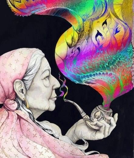 Image de smoke, psychedelic, and colors
