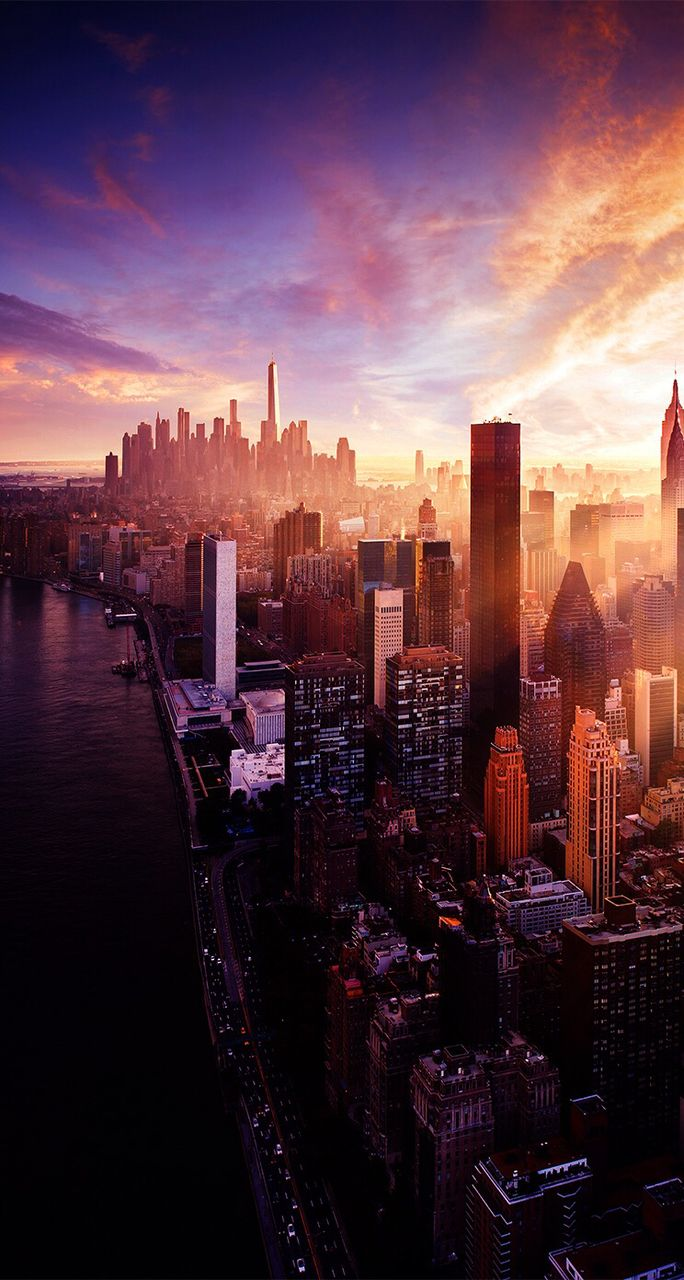Nothing Captures The Beauty Of New York City More Than A Dazzling Sunset City Wallpaper Landscape City Photography