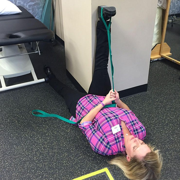 The Supine Hamstring Stretch.