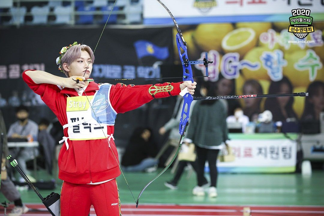 2020 Idol Star Athletics Championships Shares Exciting Glance At Competition For Pitching Archery And More Soompi Felix Stray Kids Felix Kids