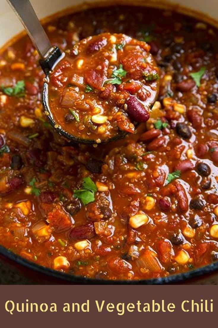 QUINOA AND VEGETABLE CHILI RECIPE ANCIENT GRAINS AND SEEDS