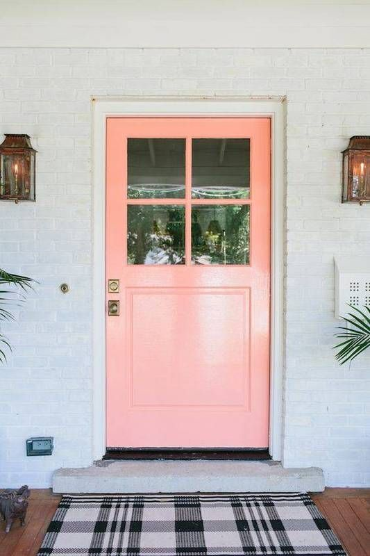 2017 Front Door Trends Electric Pink Creamy Peach Behr