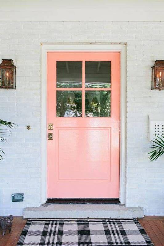 Superior 2017 Front Door Trends  Electric Pink (Creamy Peach   Behr)
