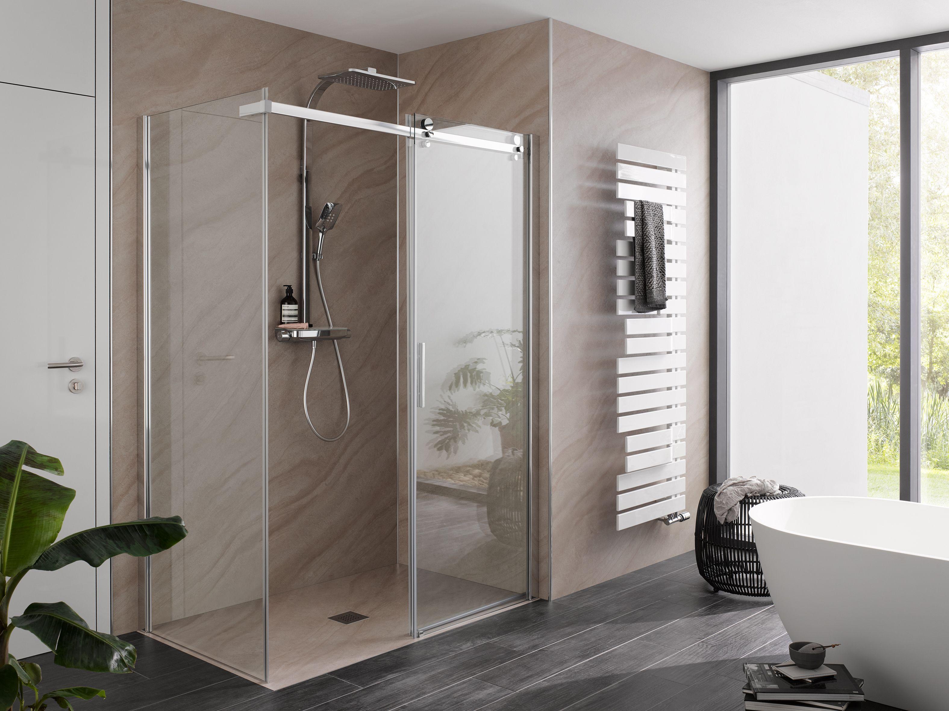 Hsk Premium Softcube Schiebeturen Fur Kleine Bader Dusche Schiebetur Bad Inspiration Badezimmer