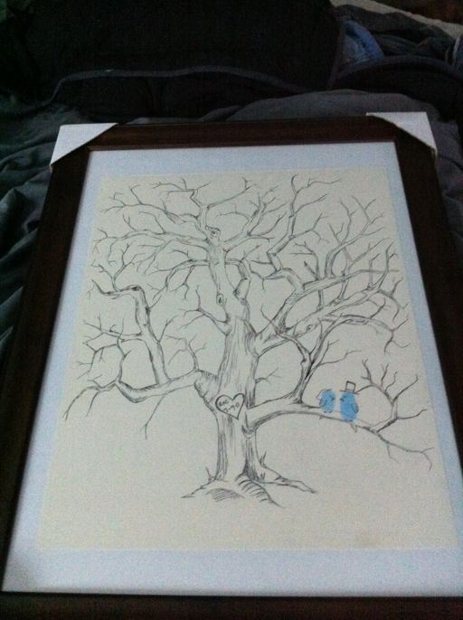 fingerprint tree drawing!