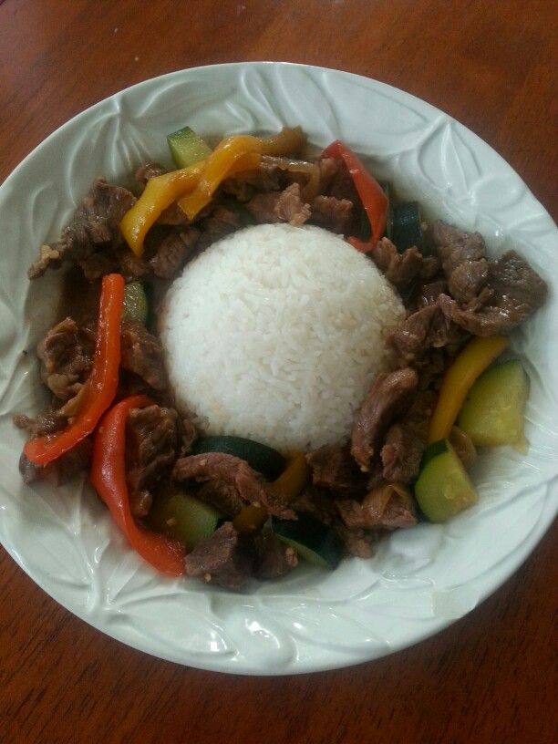 Beef Stir Fry & Rice