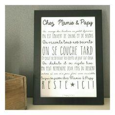 affiche chez mamie et papy encadrer les r gles pinterest affiches citation et. Black Bedroom Furniture Sets. Home Design Ideas