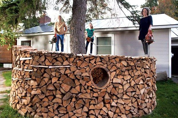 Sculptural Woodpile Stacking Wood Wood Pile Wood