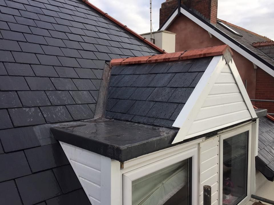 Jr Roofing Lancs Limited Roofers In Blackpool Pitched Roof Replacement With New Slate New Lead Valleys And Red Dry Fixed Rid Flat Roof Pitched Roof Roofer