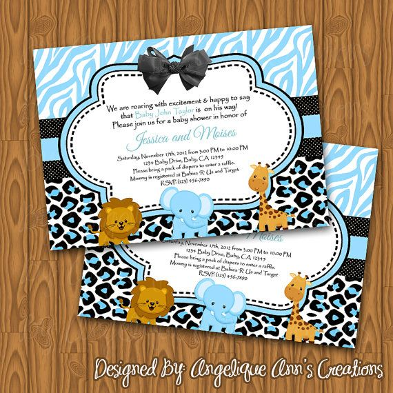 safari baby shower invitations for a baby boy diy by jayarmada2