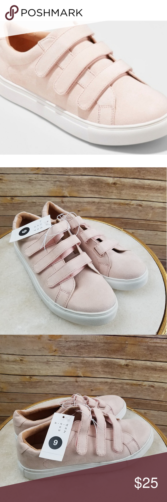 ef3daf1b3f1e6 NWT, Whitney Triple Strap Sneakers Women's Whitney Triple Strap Sneakers - A  New Day. Color:Pink/ Blush. Size: 9 and 10. Andeawy Shoes Sneakers