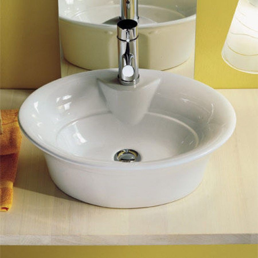 Scabeo By Nameeks Sax Above Counter Single Hole Bathroom Sink In