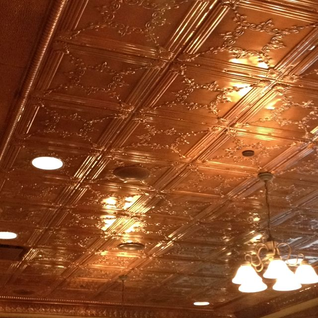 Gorgeous Copper Tile Ceiling College