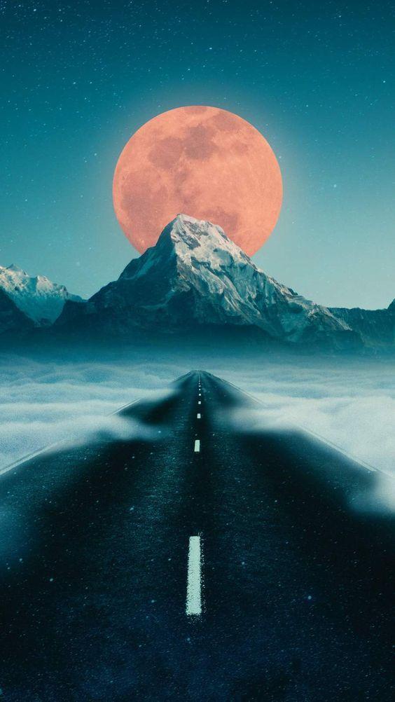 Road To Moon Iphone Wallpaper Iphone Wallpaper Cute Wallpaper Backgrounds Beautiful Wallpapers
