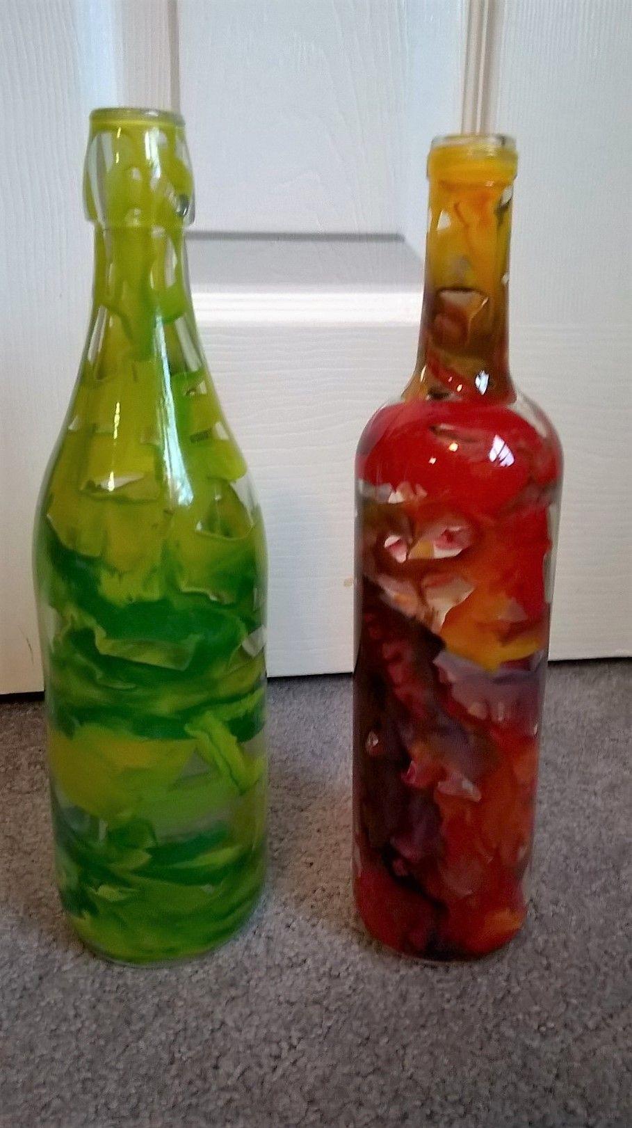 Melted crayon wine bottles bottles - How do you melt glass bottles ...