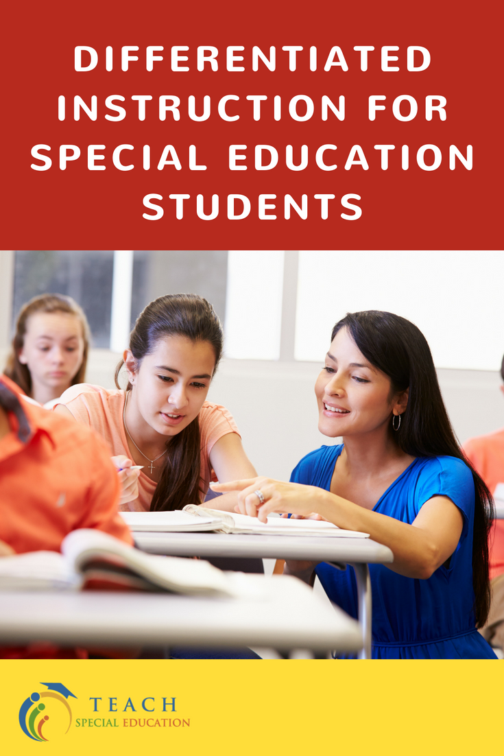 Differentiated Instruction For Special Education Students Special