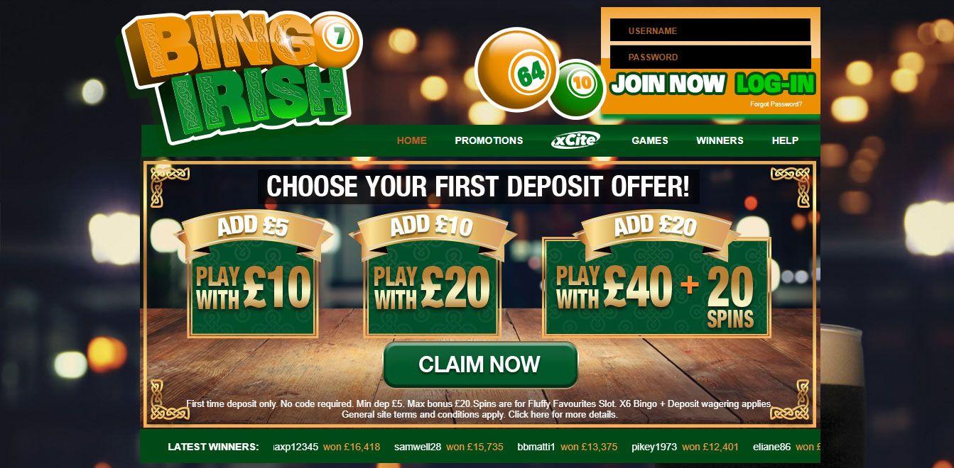 Bingo irish best new online bingo slots games site uk