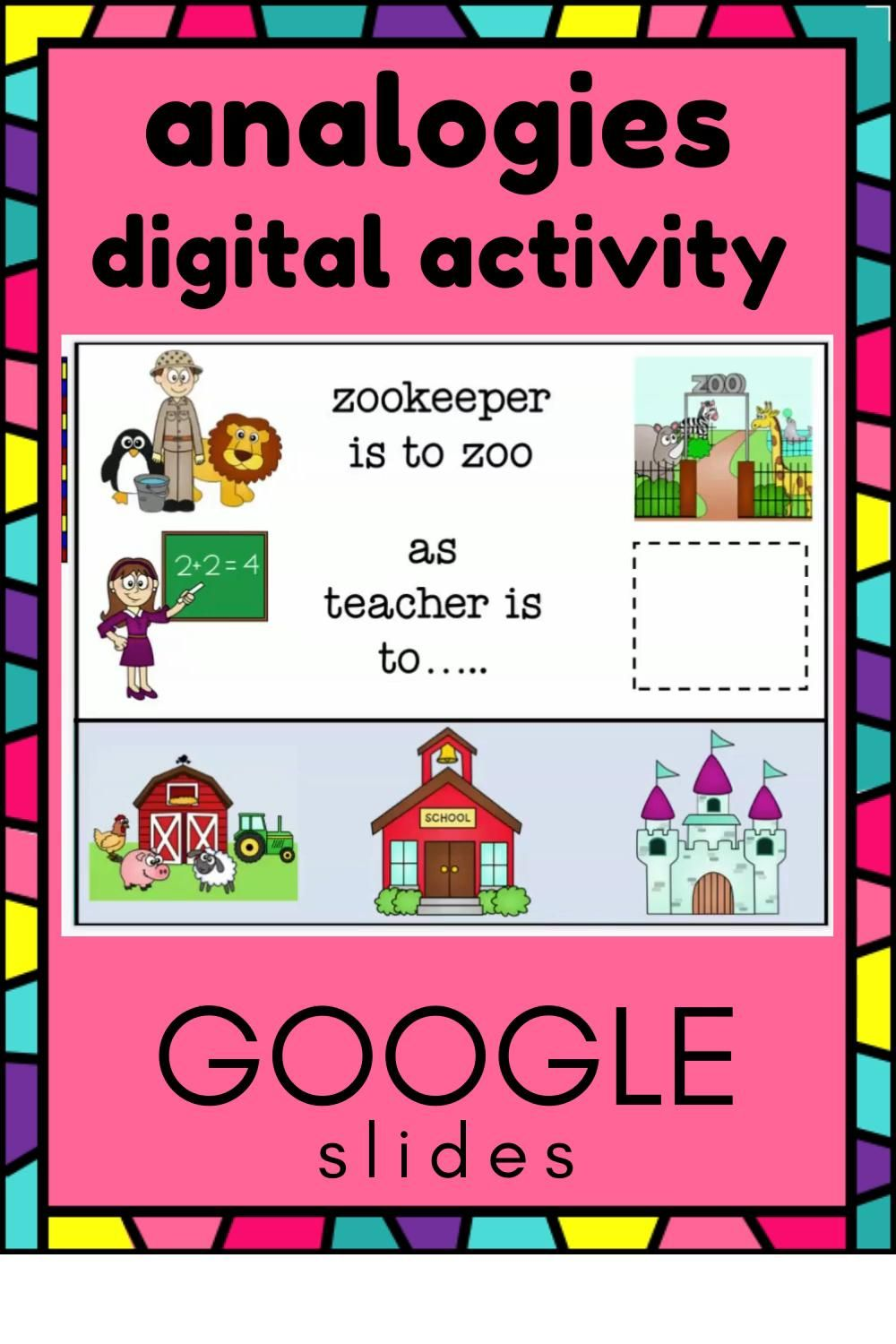 Analogies Activities For Speech Therapy Or The Classroom For Google Slides Video Speech Therapy Activities First Grade Resources Reading Skills [ 1500 x 1000 Pixel ]