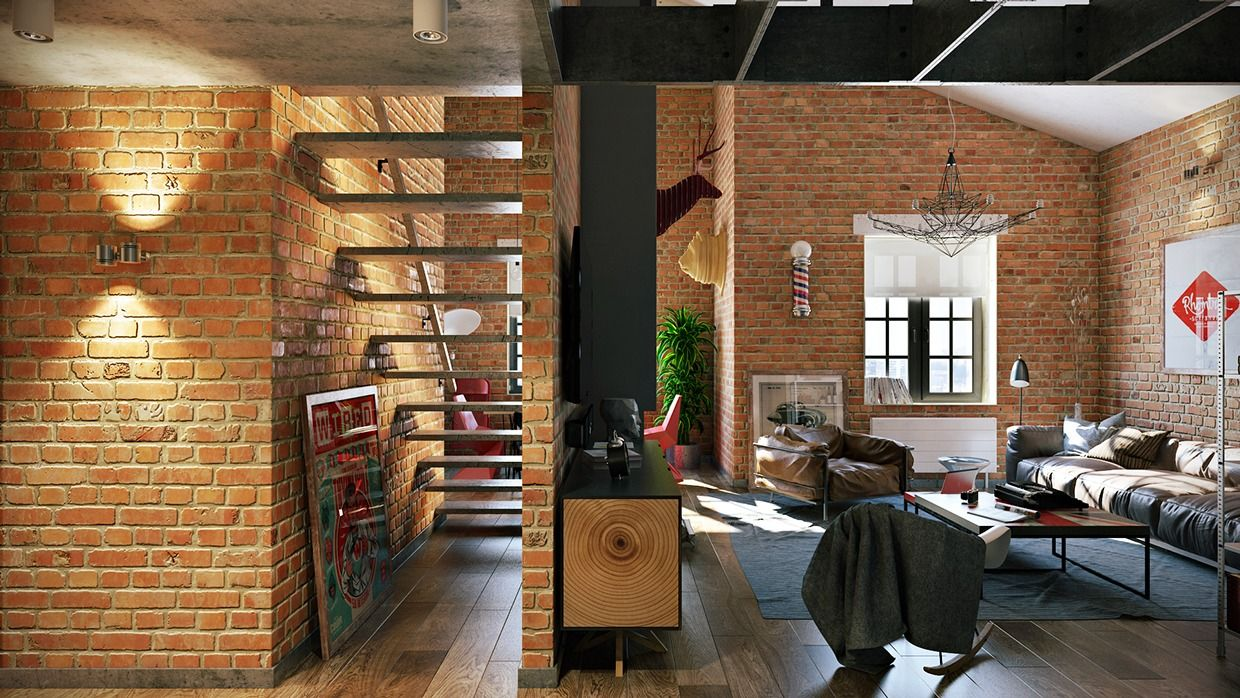 attractive loft apartment with an interior design made by pavel rh pinterest com