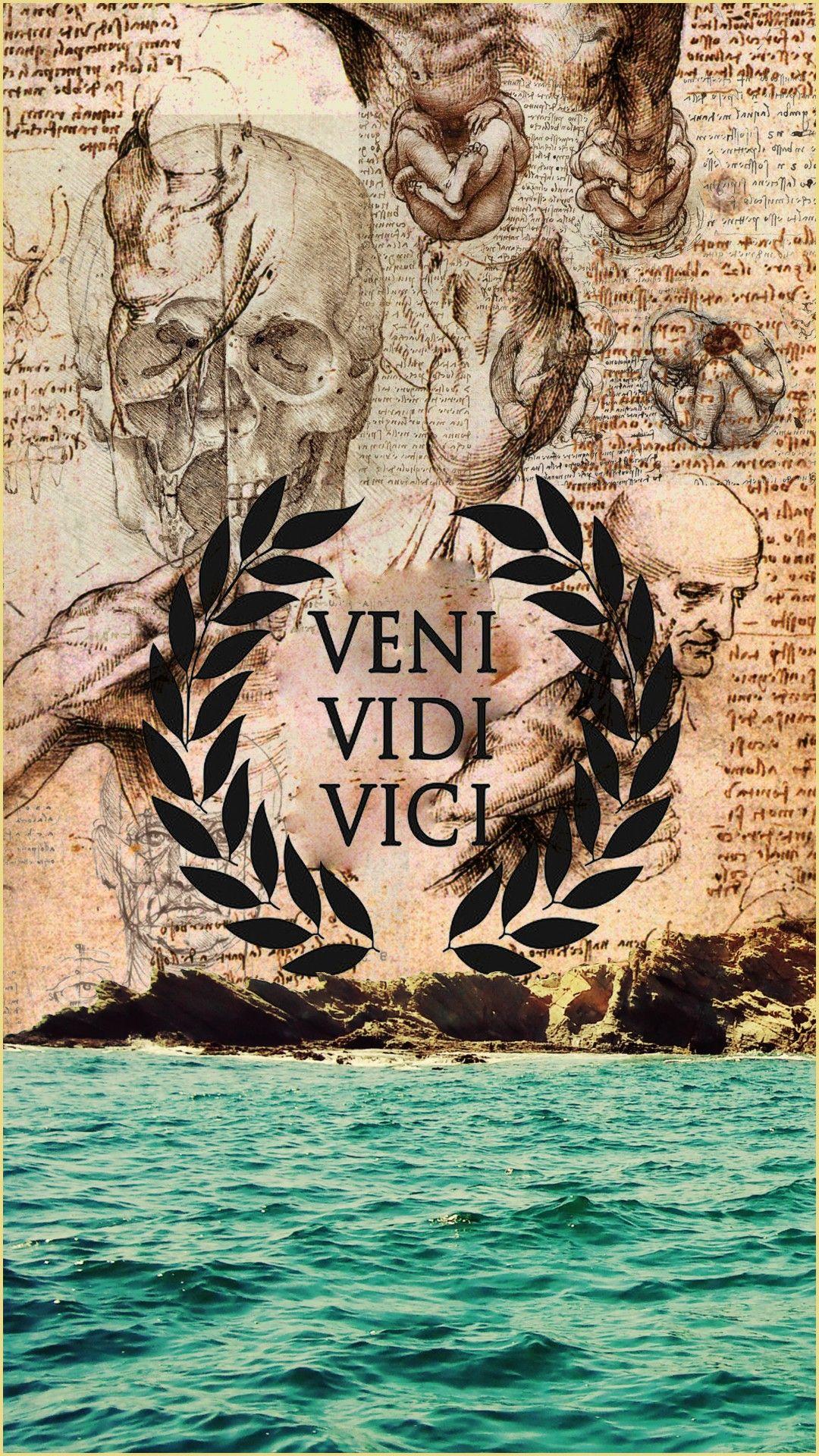 Vini Vidi Vivo Motivation Wallpaper Da Vinci Old Wallpaper