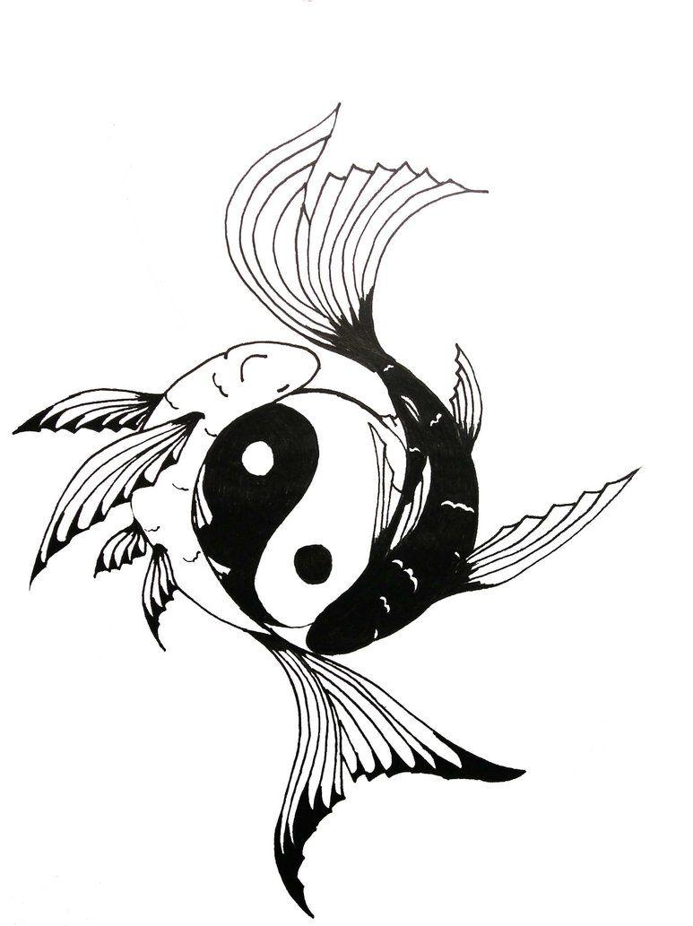 Yin yang koi fish tattoo chock full of symbolism for Koi fish symbolism