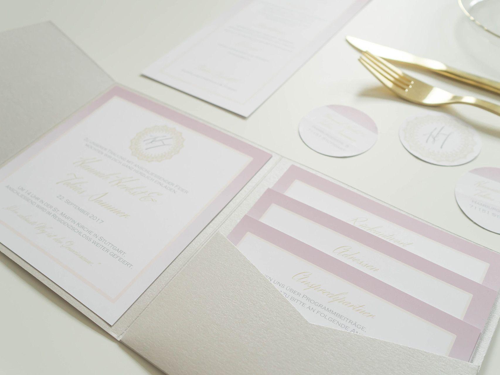 Hochzeitsset Design Elegant Juhu Papeterie Liebevoll