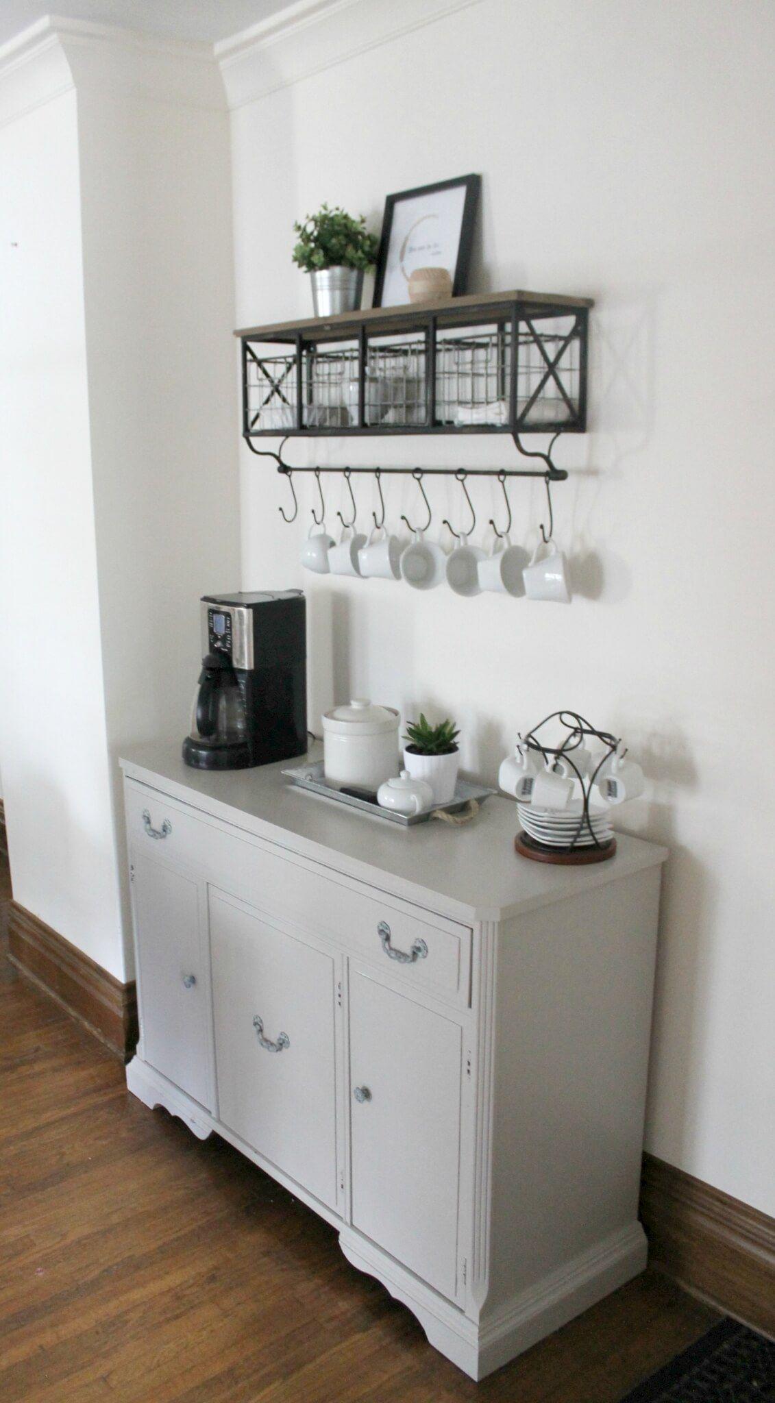 DIY Coffee Bar in Gray (With images) Diy coffee bar
