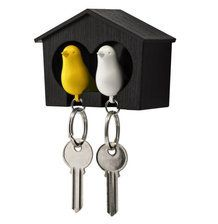 Sparrow Image Metal Spinning Keyring in Gift Box