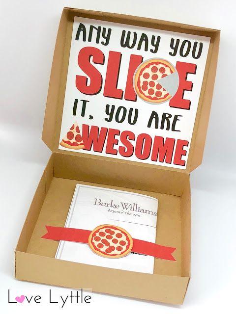teacher appreciation week pizza box gift card  teacher
