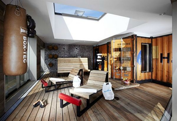 luxury shipping container gym | shipping container houses