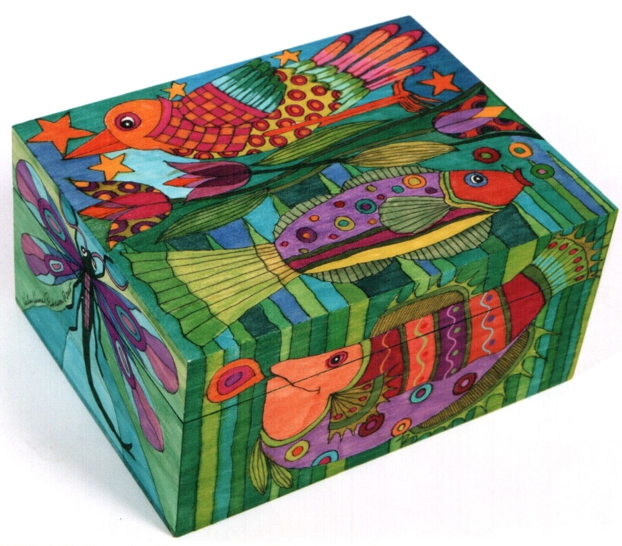 bird and fish box by helen heins peterson bunt pinterest treibholz bunt und holz. Black Bedroom Furniture Sets. Home Design Ideas
