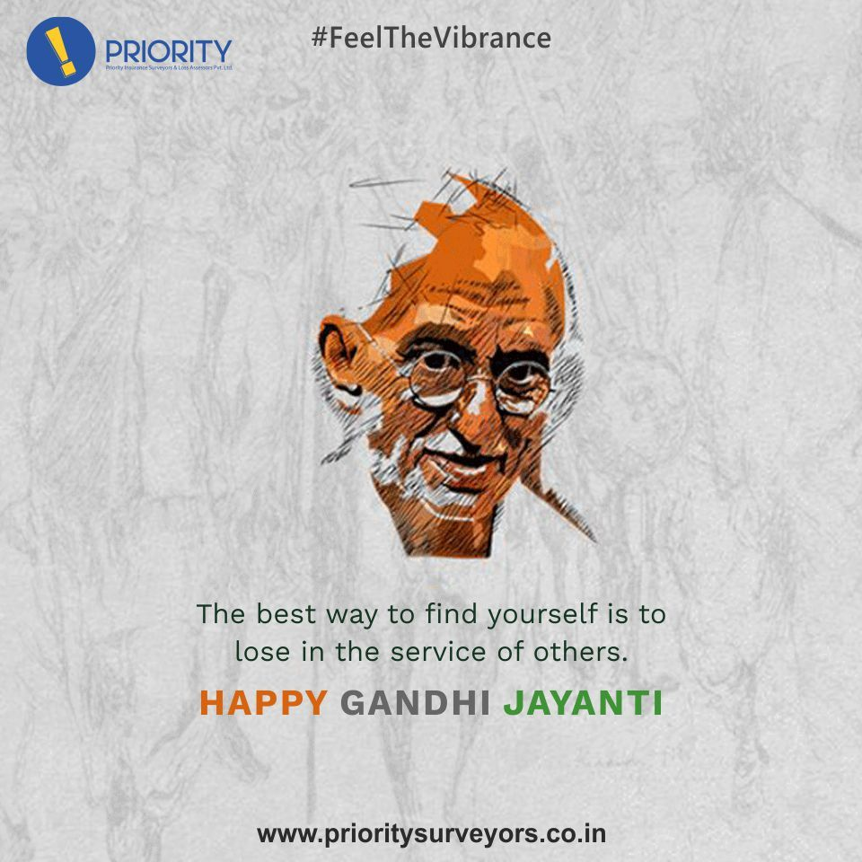 A salute to the man who led us to the freedomhappy gandhi