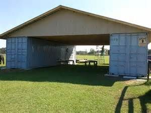 Charmant Cargo Container Barn Trusses | Garage/carport In Our Near .