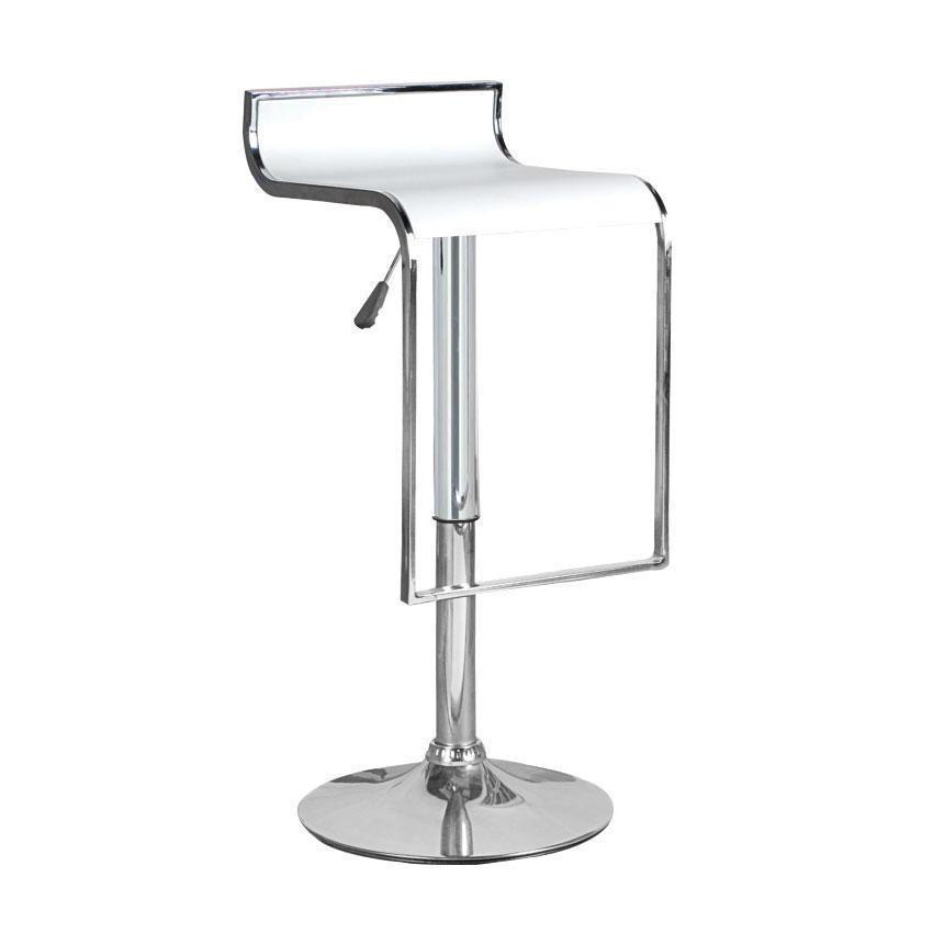 Astounding Hudson White Adjustable Height Swivel Bar Stool Furniture Ncnpc Chair Design For Home Ncnpcorg