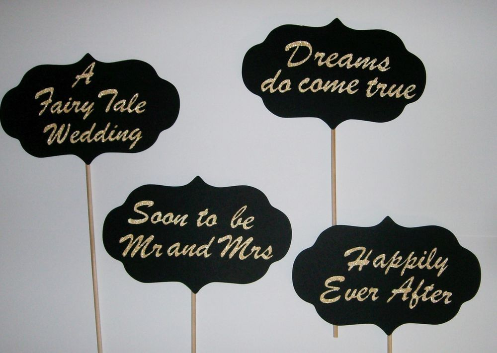 A Fairy Tale Wedding Photo Prop / Happily Ever After / Dreams come true (2190D) #HandCrafted