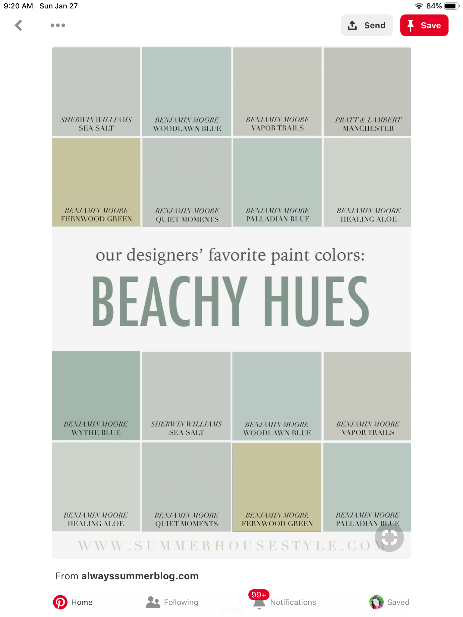 Pin By Peggy G On Havenly Favorite Paint Colors Palladian Blue Wythe Blue
