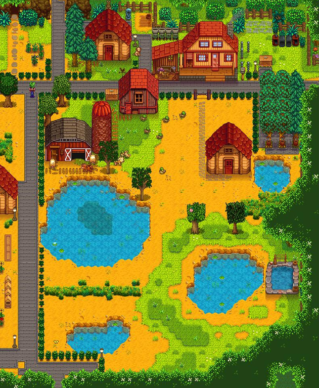 I M Sure It S Not Original But I M Using Tea Bushes As An All Natural Fence Farmsofstardewvalley Stardew Valley Stardew Valley Layout Farm Layout