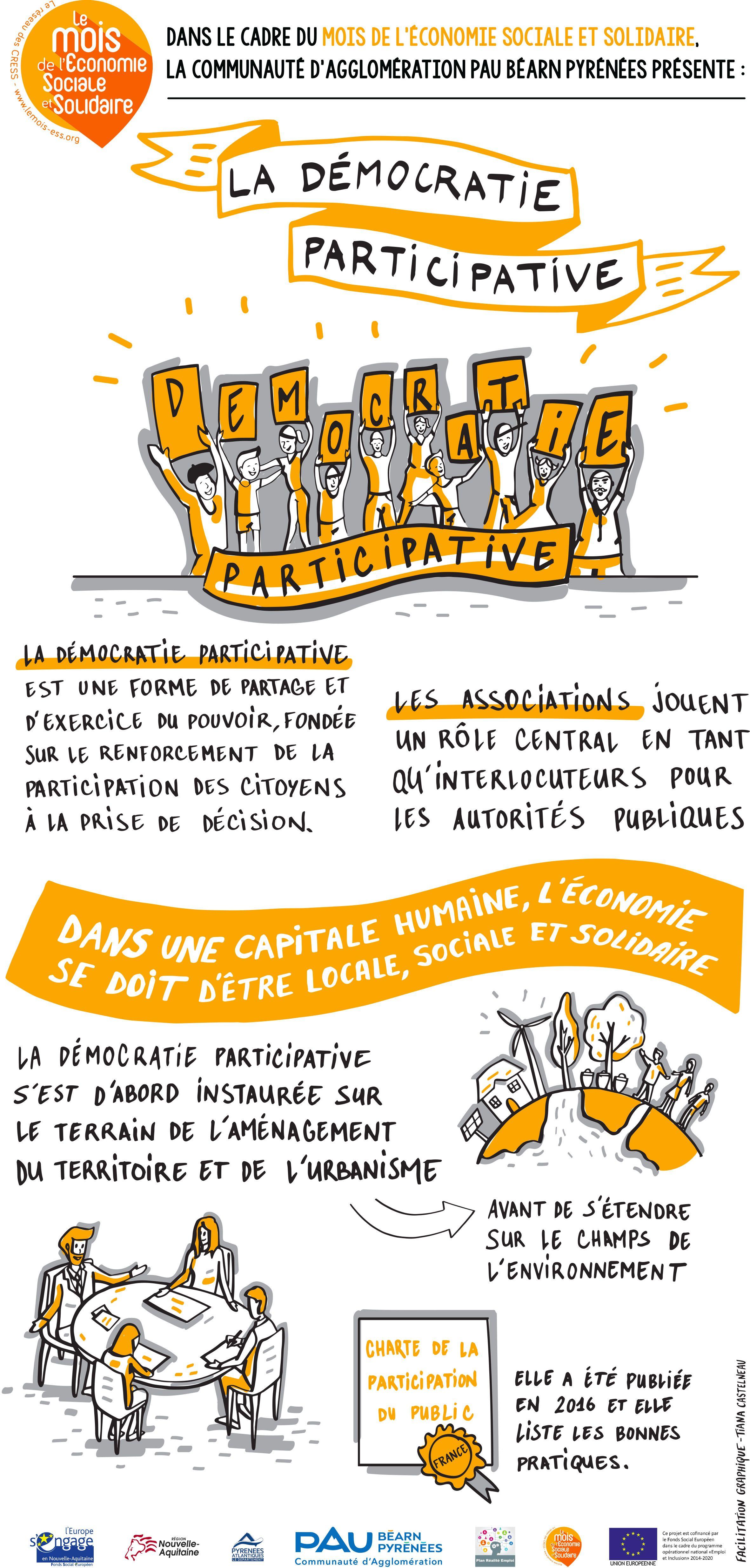 La Democratie Participative Facilitation Graphique Management Visuel Democratie