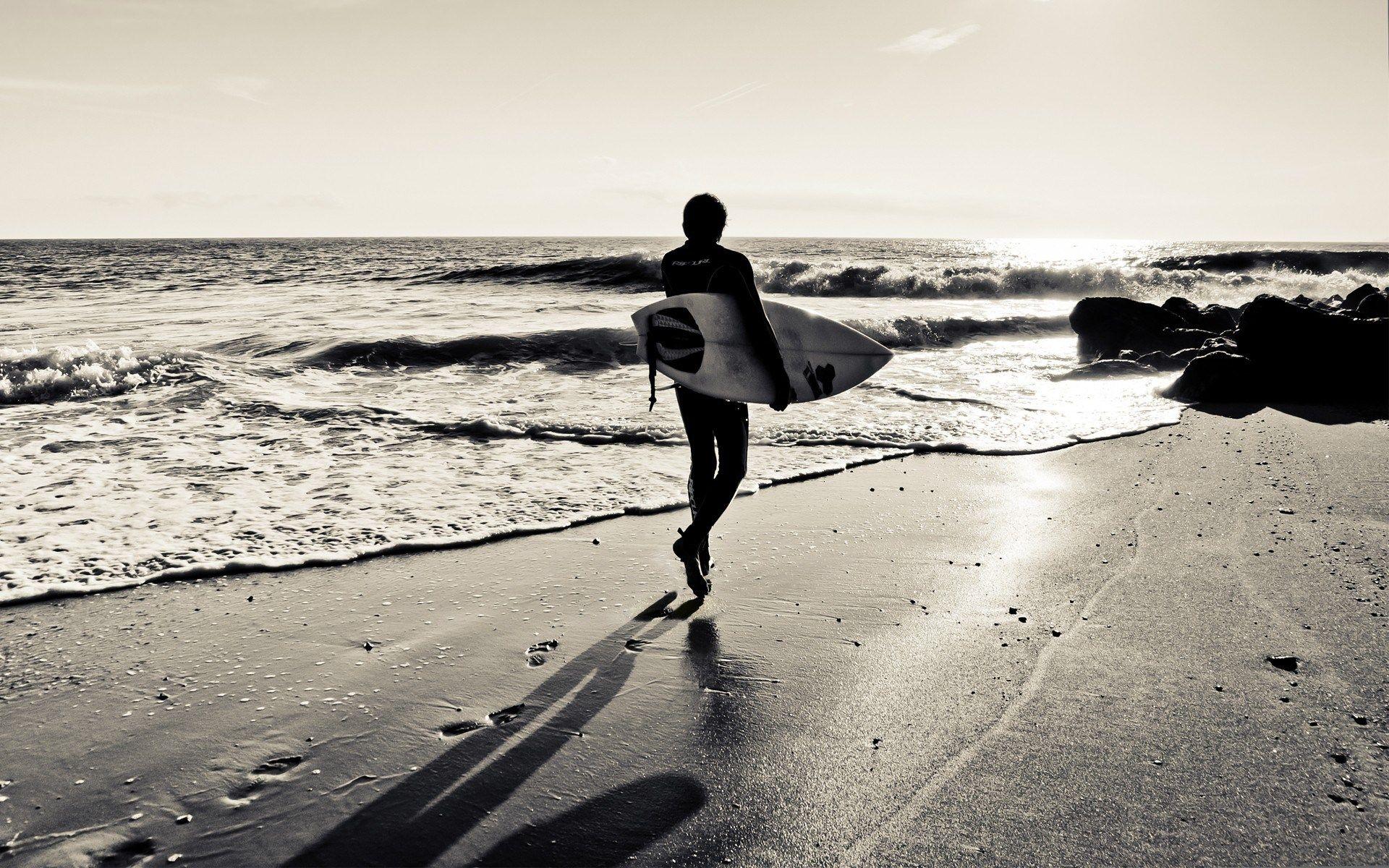 Download Free Surf Beach Wallpaper Ololoshenka Pinterest Black White