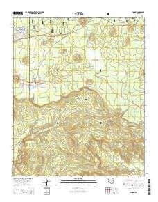 McNary AZ topo map, 1:24000 scale, 7.5 X 7.5 Minute, Current, 2014 ...