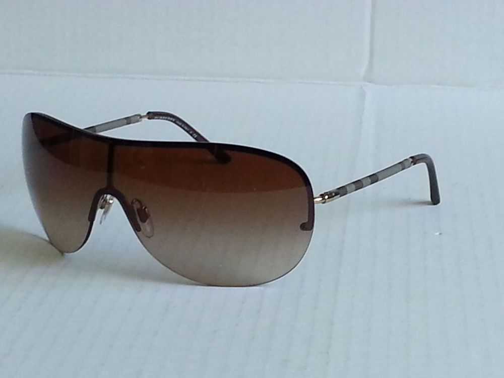 BURBERRY shield style brown sunglasses B 3063 Made in Italy (no tags )   Burberry  Shield eacfa8fec2