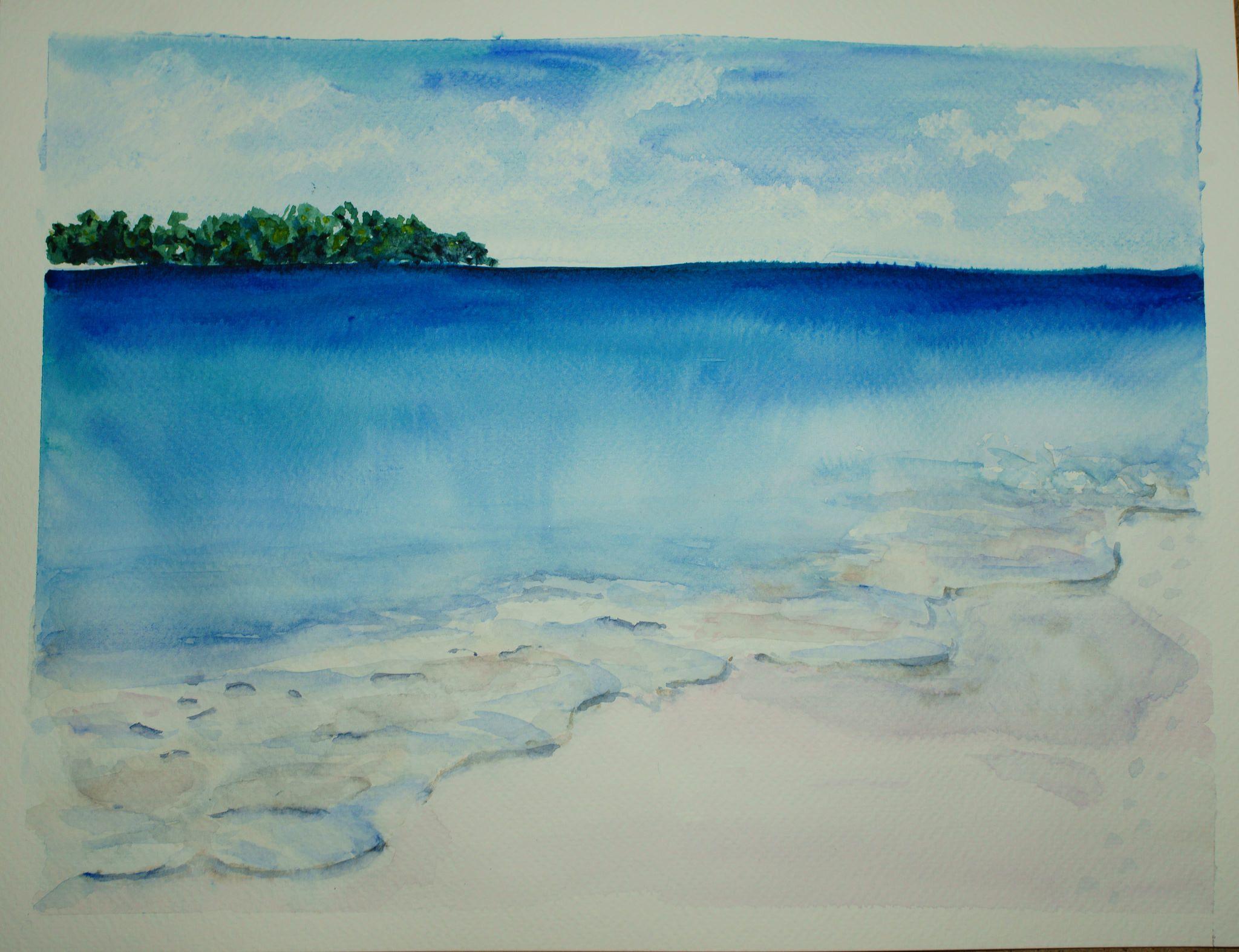 Somewhere At The White Beach Dessin