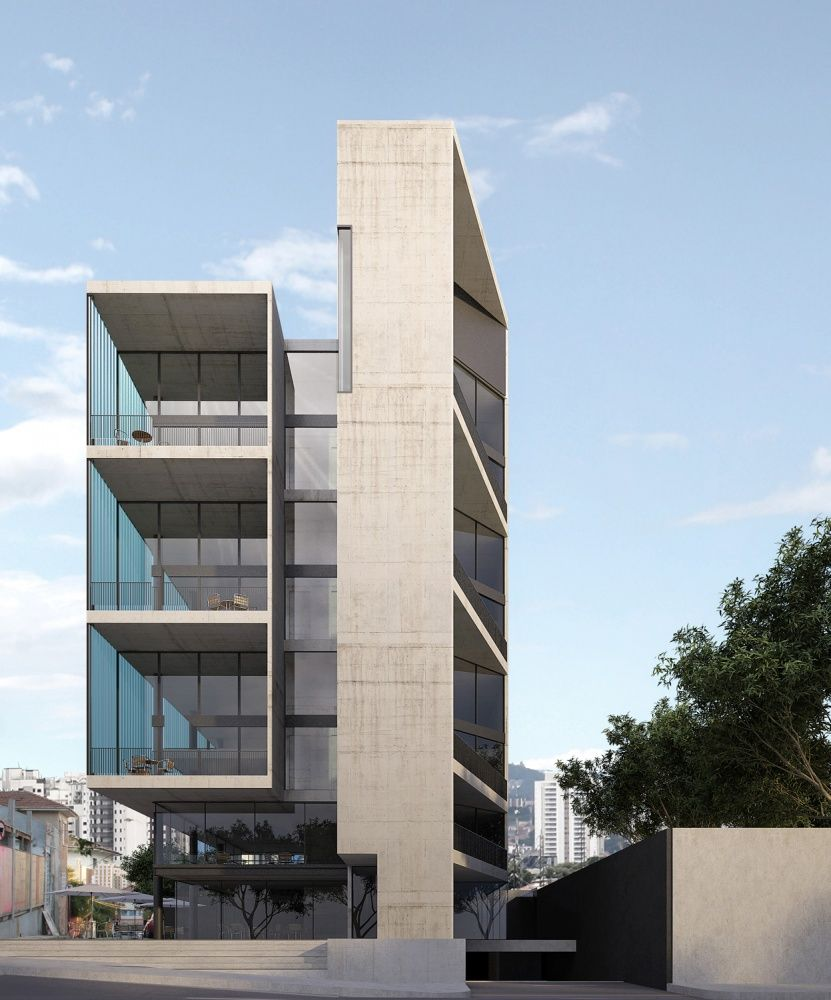 Una arquitetos arq pinterest edificios fachadas y for Arquitectura departamentos modernos