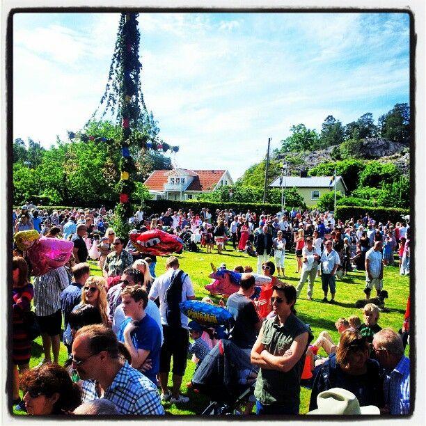 Celebrating Midsummer, Stockholm Sweden