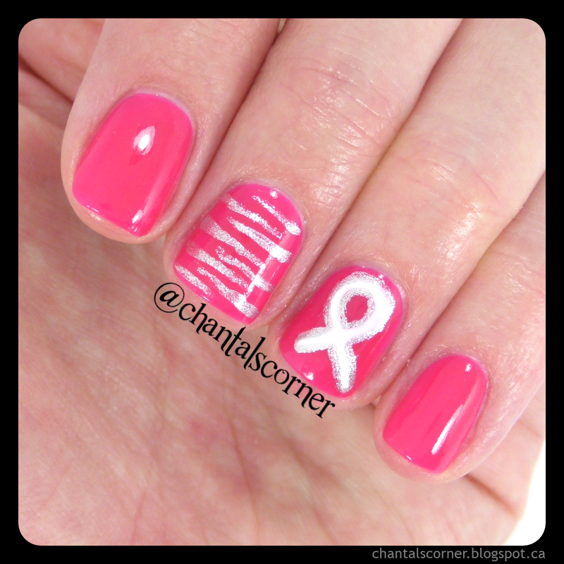 Pink Ribbon Nail Art | Fingernails | Pinterest | Pink ribbons and ...