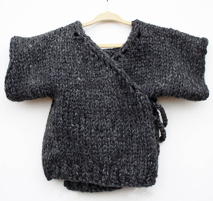Toddler Kimono Sweater Knitting Pattern
