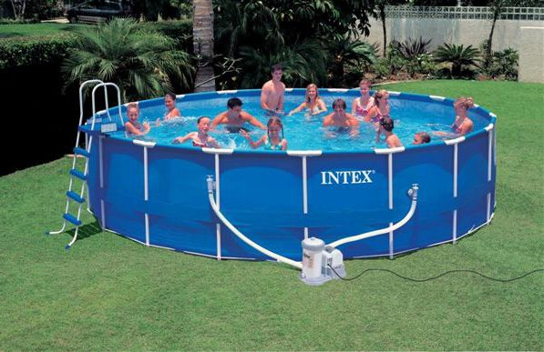 18 FOOT BY 4 FOOT ABOVE GROUND POOL | Intex Swimming Pool Frame UK ...